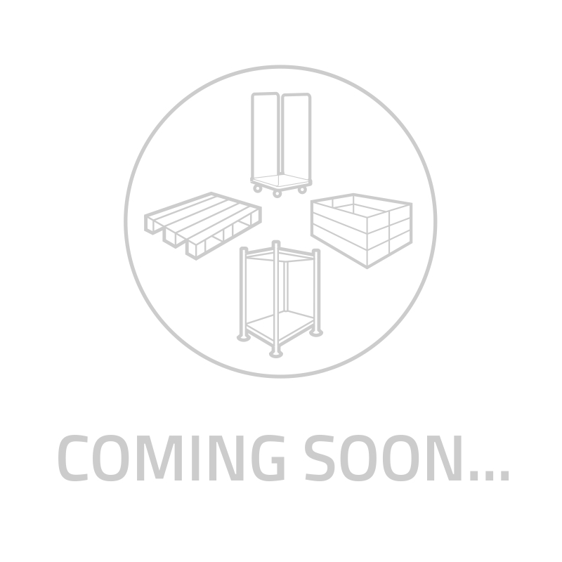 Display rolcontainer 3-heks met 6 legborden, insteekhekken