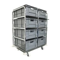 Orderverzamelwagen 1085x700x1170mm - inclusief 8 Euronorm bakken