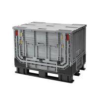 Palletbox inklapbaar met klapraam 1211x811x903 mm - kunststof