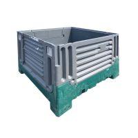 Palletbox inklapbaar gebruikt 1200x1000x900 mm - kunststof