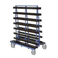Platenwagen 1000 kg 1500x785x2000 mm - dubbelzijdig