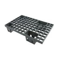 Kleine kunststof display pallet 600x400x120mm - nestbaar
