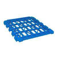 Blauw legbord voor 3-heks en antidiefstal rolcontainer - 150 kg draagvermogen